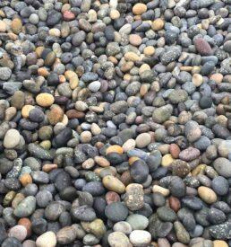 multicolored mexican beach pebbles