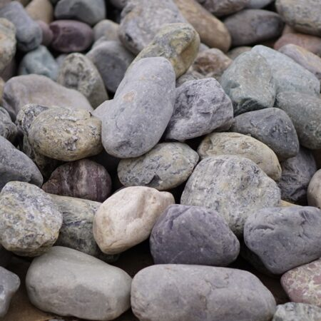 multicolor river rock